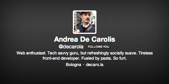 Andrea De Carolis su Twitter