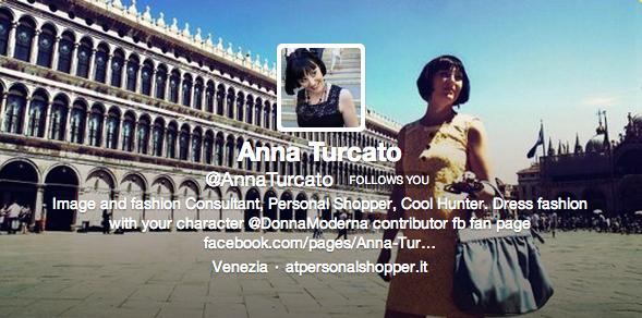Anna Turcato su Twitter