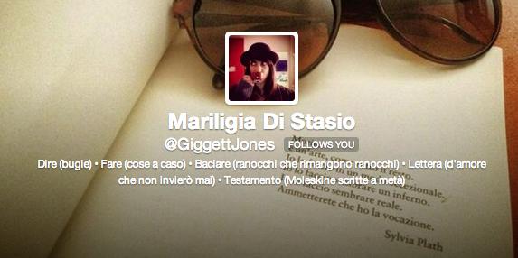 Mariligia Di Stasio su Twitter