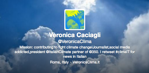 Veronica Caciagli su Twitter