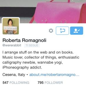 Roberta Romagnoli su twitter